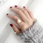 戒指 韓國簡約氣質百搭學生珍珠關節戒指女食指裝飾指環女個性飾品潮人
