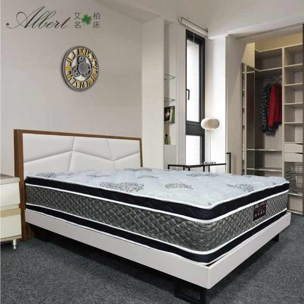 Albert 艾柏-艾柏 正四線抗菌柔纖3.5尺單人獨立筒床墊-3.5x6.2尺