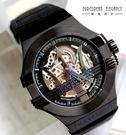 Maserati 瑪莎拉蒂-台灣總代理公司貨-原廠保固兩年-台灣限定版藍黑色機械錶(手錶 男錶 女錶 對錶)