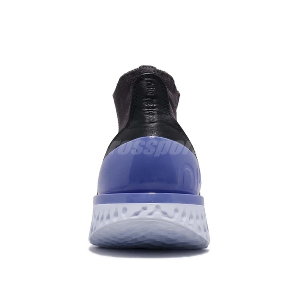 Nike 慢跑鞋 Wmns Rise React Flyknit 灰 紫 緩震回彈 女鞋 運動鞋【ACS】 AV5553-055