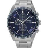 【分期0利率】SEIKO 精工錶 三眼計時錶 V176-0AZ0B 藍寶石水晶鏡面 43mm 公司貨 SSC727P1