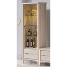 【森可家居】瑪奇朵2尺展示櫃 10ZX358-3 玻璃酒櫃 模型櫃 刷白木紋 北歐風 安全導圓角 MIT