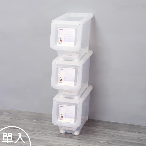 聯府直取式收納箱中16L(單入)掀蓋式整理箱玩具置物箱LF605-大廚師百貨