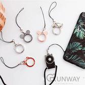 【24H】可愛貓咪 金屬指環手機架 指環扣 手機短掛繩 可扣於手機掛繩上 迷你桌上手機支架