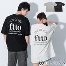 【OBIYUAN】短袖t恤 韓國製 情侶 英文 落肩 上衣 寬鬆衣服 2色【F10006】