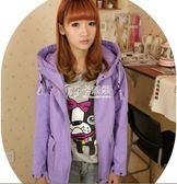 風衣外套 865#韓版短款工裝外套休閒長袖大碼彩色風衣外套女秋裝(優質版) 卡菲婭
