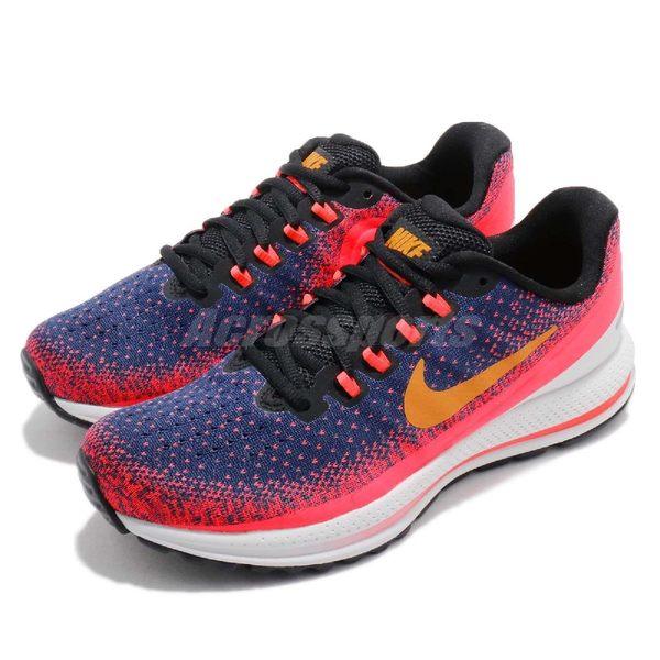 Nike 慢跑鞋 Wmns Air Zoom Vomero 13 粉紅 藍 避震穩定 運動鞋 女鞋【PUMP306】 922909-483