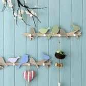 北歐創意小鳥裝飾玄關衣帽試衣間墻壁壁飾