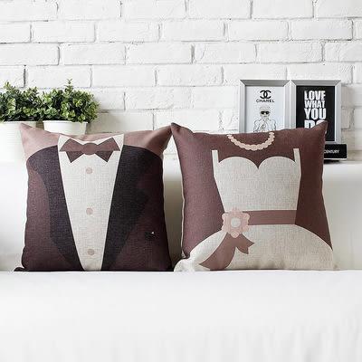 可愛時尚結婚禮物 創意家居裝飾抱枕(一對含枕心)