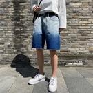 牛仔短褲男士夏季薄款五分褲男5分馬褲復古學生破洞中褲寬松褲子