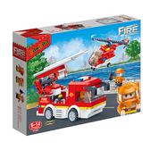 【BanBao 積木】新消防系列-消防系列-消防救援(迴力) 7126