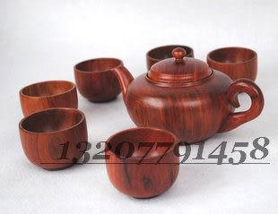 功夫茶具 紅木雕刻 酸枝木茶壺茶杯 一套 木質茶具套裝