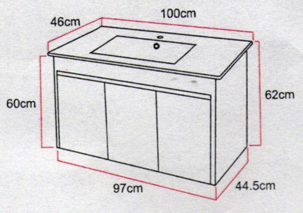 『長梭衛浴』PV0110/9100E 浴櫃/防水發泡板/門片含緩衝鉸鏈(退回需自付來回運費)