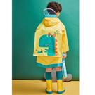 韓國lemonkid 牛津布造型雨衣-黃色恐龍