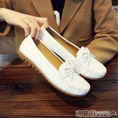 豆豆鞋 護士鞋女百搭小白鞋韓版學生平底豆豆鞋軟底淺口單鞋 瑪麗蘇