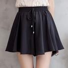 休閒短褲 雪紡短褲女夏新款高腰韓版胖mm大碼寬鬆休閒鬆緊腰闊腿短褲裙