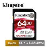KINGSTON SDR/64GB  金士頓 相機、錄影機 SD 高速 記憶卡 UHS-I U3 64GB 4K/2K