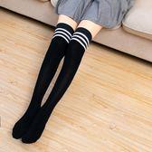 過膝襪 浪莎長筒襪女襪子過膝高筒韓版黑色小腿襪日繫半截中筒襪ins潮版 伊蘿鞋包