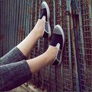 後踩鞋,懶人鞋,輕便布鞋,台灣製造,雙色搭配 (黑灰)
