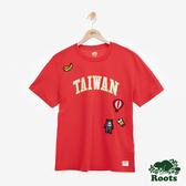 男裝ROOTS 台灣國慶貼布短袖T恤-紅色