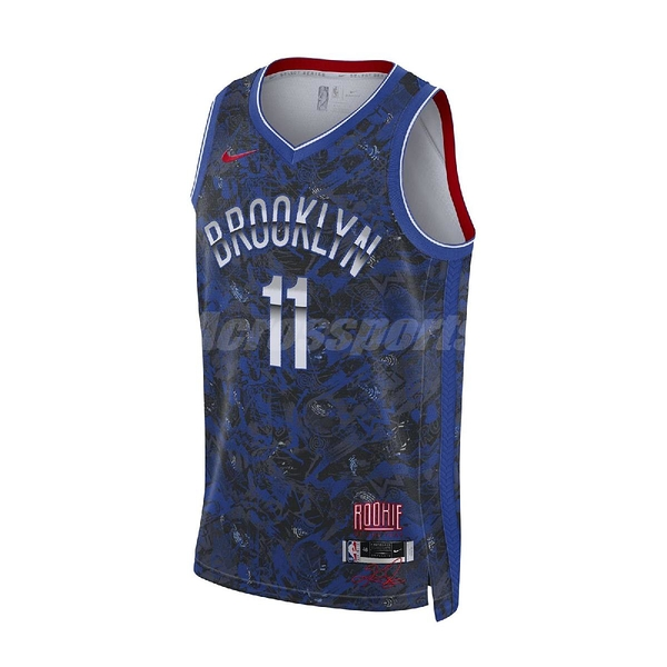Nike 球衣 Kyrie Irving NBA Jersey 藍 紅 厄文 布魯克林 【ACS】 DA6959-495