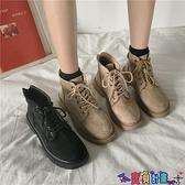99免運 馬丁靴 2021秋季新款馬丁靴加絨顯腳小短靴英倫風瘦瘦春秋單靴潮女鞋 【寶貝計畫】