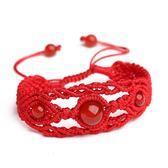 紅線純手工編織紅線手鍊瑪瑙手串辟邪轉運水晶女款飾品學生個性旺夫【全館85折】