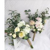 新款影樓婚紗攝影韓式旅拍內外景仿真田園風小清新拍照新娘手捧花