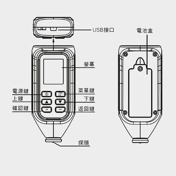 《博士特汽修》塗層厚度器 精密款 兩用機底 鍍膜膜厚計 汽車鍍膜烤漆 mm/um單位 MET-CTG+3
