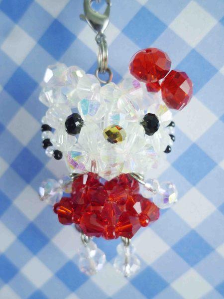 【震撼精品百貨】Hello Kitty 凱蒂貓~KITTY串珠手機吊飾-紅S
