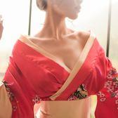 情趣內衣三點式日式和服風小胸制服透明露免脫漢服夜火激情套裝騷 韓流時裳