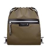 【南紡購物中心】LONGCHAMP GREEN DISTRICT系列ECONYL認證再生尼龍前口袋束口後背包(棕)