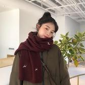 特賣圍巾   禮物可愛小鹿仿羊絨圍巾女冬季保暖親膚學生兩用圍脖