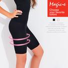 魔法e裳《塑身保暖美腿五分褲》3D超彈力*瘦腰提臀瘦身按摩保暖內搭褲-P717【現貨】