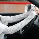 夏季女開車防曬手套護臂手臂套袖套夏天防紫外線長款棉質薄款日系 百分百