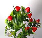 仿真草莓假草莓束~居家店面櫥窗玄關大廳擺飾 飾品盆栽裝飾過年插花節慶裝飾