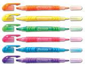 【飛龍牌Pentel】SLW10 雙頭螢光筆 (單支)