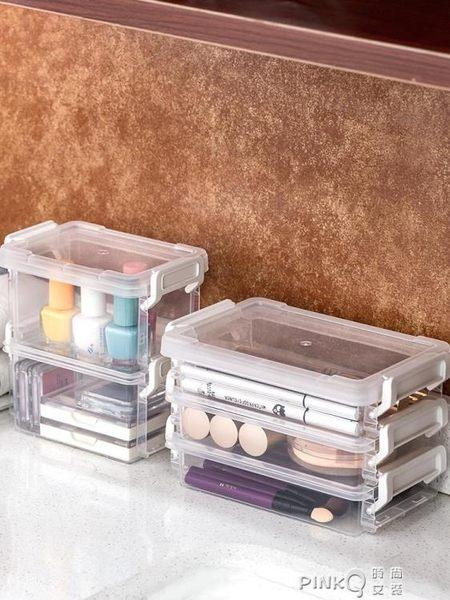 愛麗思IRIS桌面收納盒首飾化妝品文件收納包手帳膠帶證件收納盒 【PINKQ】