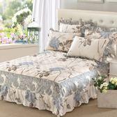 (百貨週年慶)夾棉純棉單件床罩床裙式全棉加厚保護床單床套防塵1.5米1.8