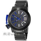 LICORNE  MKIII系列經典帥氣手錶-黑x藍