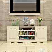 簡約現代電視櫃歐式鋼化玻璃客廳茶幾組合小戶型迷你地櫃視聽櫃子igo    易家樂