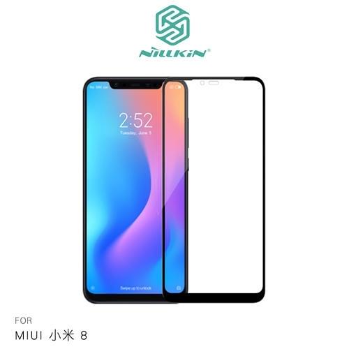 【愛瘋潮】NILLKIN MIUI 小米 8 3D CP+ MAX 滿版玻璃貼 9H硬度