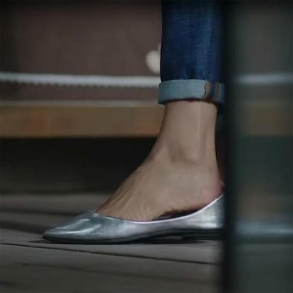 2020夏季新款小碼銀色淺口單鞋軟底平底鞋女鞋尖頭大碼百搭船瓢鞋 限時82折免運