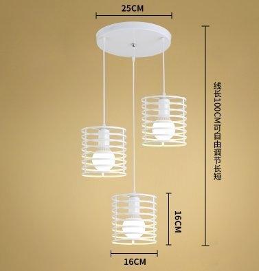 特惠 北歐餐廳吊燈三頭復古工業風創意個性藝術吧臺裝飾餐桌燈具小燈罩【不含光源】