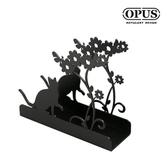 OPUS 歐式鐵藝信件架/收納架/桌面收納小物(貓咪_黑)