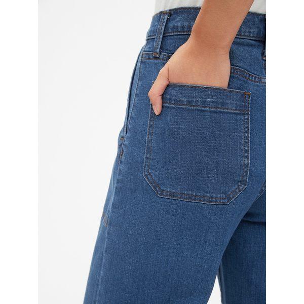 Gap女裝 氣質高腰九分牛仔褲 440567-藏青色