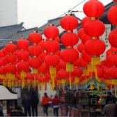 大紅連串燈籠折疊戶外防水新年結婚裝掛飾小燈籠【步行者戶外生活館】