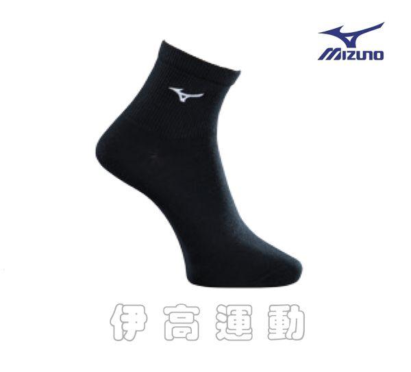 美津濃Mizuno 男生運動學生襪-黑色(薄底) 32TX8A53-91