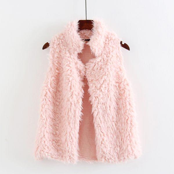 馬甲 春秋冬毛茸茸絨絨 馬夾可愛背心女士短款小外套 修身開衫P邊『公主夜衣館』