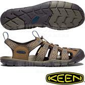 KEEN 1018495深咖/灰藍 Clearwater CNX 男戶外護趾涼鞋 水陸兩用溯溪鞋/運動健走鞋/沙灘戲水拖鞋